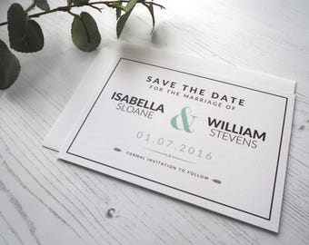 Love Timeline Save the Date - SAMPLE