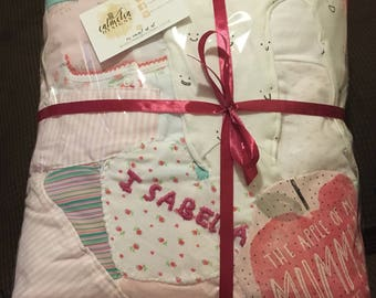 Patchwork keepsake quilt/memory quilt/baby clothes quilt