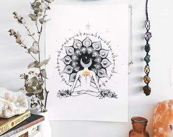 Moonlight Illustration, Manifestation Art