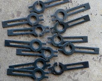 Vintage clock hands -- set of 12 -- D15
