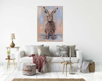 PRETTY HARE,  Canvas Wrap Print From My Acrylic Art - Ready to hang