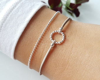 Bracelet Ring Silver 925 silver ball necklace