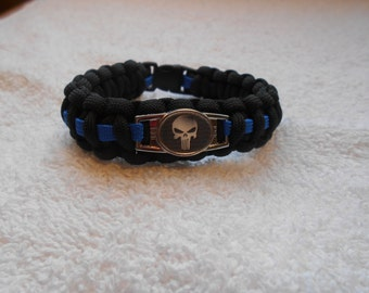 The Punisher Series - Charm # 7G - Paracord Bracelet - Hand Made