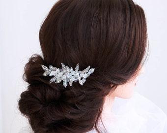 Bridal hair comb -Wedding hair comb-Crystal Hair comb-Wedding Hair piece-Bridal headpiece-Wedding accessories-Silver crystal headpiece