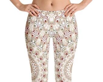Yoga Designs Leggings, Bohemian Yoga Pants, Hippie Clothes, Custom Leggings for Women, Printed Leggings, Comfy Yoga Pants