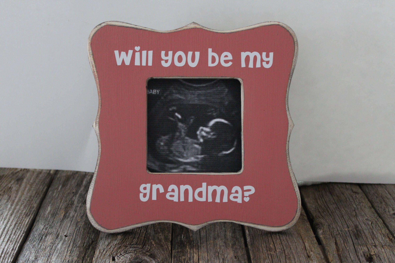 Werden Sie meine Oma Schwangerschaft-Ankündigung für Oma