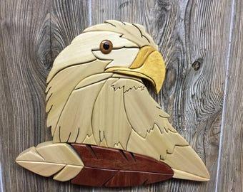Eagle and Feather Intarsia