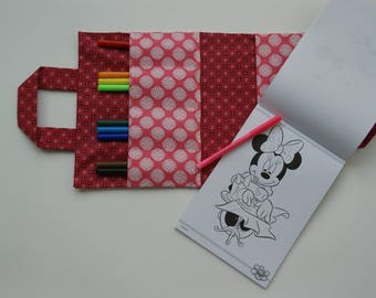 Crayon wallet for children - Stars and stripes