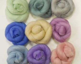 Felting Wools - Merino Wool Tops - PASTEL Tones