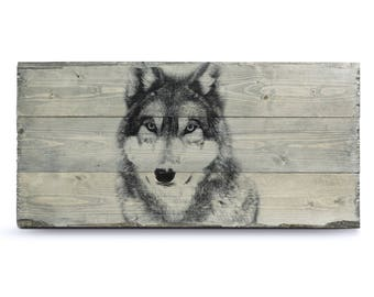 Photo on Wood, Rustic Wood Decor, Wolf Wall Art, Wolf Print, Wolf Art, Wolf Poster, Wolf Art Print, Wolf Decor, Wolf Painting, Wolves
