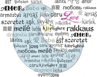 Love Languages Heart Digi