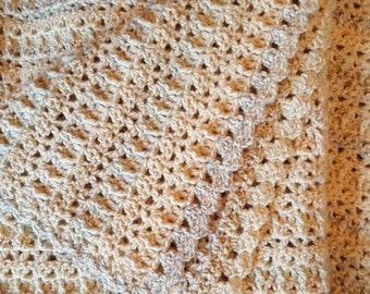 Crochet PATTERN Oatmeal Throw with a Twist, Oatmeal Afghan Crochet Pattern