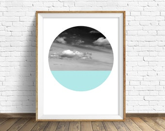 """nature photography, large art, large wall art, printable art, instant download printable art, landscape prints, round photos - """"Open Skies"""""""