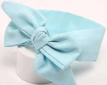 Light Blue Baby Headband / Headwrap