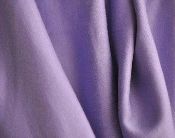 "Organic Cotton Interlock, 60"" wide, Orchid Purple"