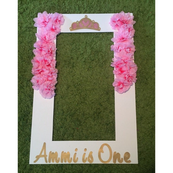 Floral princess photo frame party prop floral photo booth