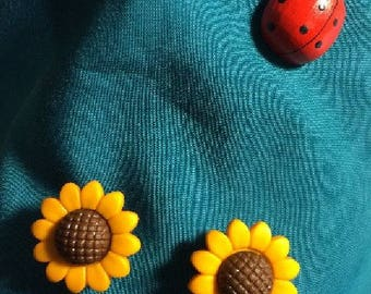 Cute SUNFLOWERS Sun Flowers Sunflower Fall Autumn Clog Shoe Charms