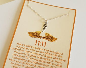 11:11 Angel Wing Necklace ---- Angel wings