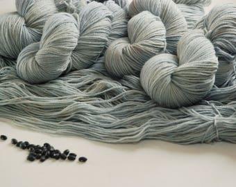 APPLEOAK MILO ~ SEAFOAM ~ botanically Dyed ~ Sport weight Merino wool yarn