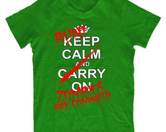 Run Zombies Are Coming Tshirt T25 - Mens Funny Tshirt Humorous Rude Birthday Gift Comedy Quality, Christmas Present