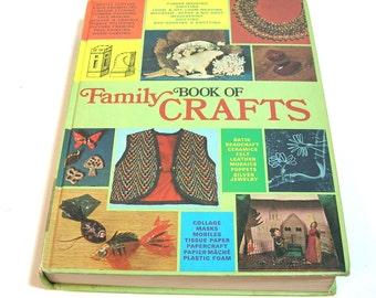 Book Of Family Crafts, Huge Vintage Craft Book, Vintage Book