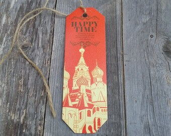 Gift Tag, Saint Basil's Cathedral, Moscow, With Love From Russia, Best Wishes, Thinking Of You