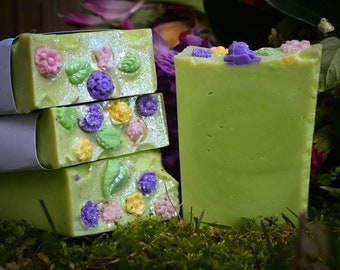 Persephone Cold Process Soap For a Blooming Bathing Ritual~Flower Soap~Floral Soap
