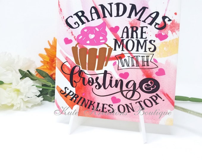 Featured listing image: Grandmas are Moms tiles/Tiles/Decoratie Tiles/Mother's Day Gift.