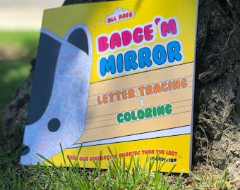 Badge'M Mirror Letter Tracing & Coloring Handbook (by the Hemp Coop)