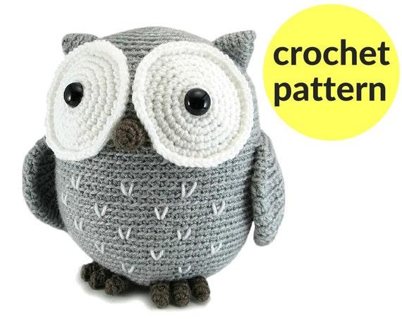 Large Owl Amigurumi Pattern Crochet Owl Pattern Large Stuffed