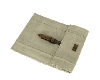 iPad sleeve, iPad case, iPad cover, recycled, vintage, canvas iPad sleeve