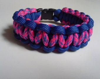 Razzmatazz & Royal Blue Paracord Bracelet