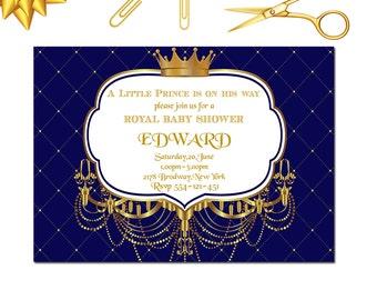 Royal  Baby Shower Invitation, Little Prince Baby Shower Invitation, Royal 1st Birthday Invitation, 1st Birthday, Baby Shower, Little Prince
