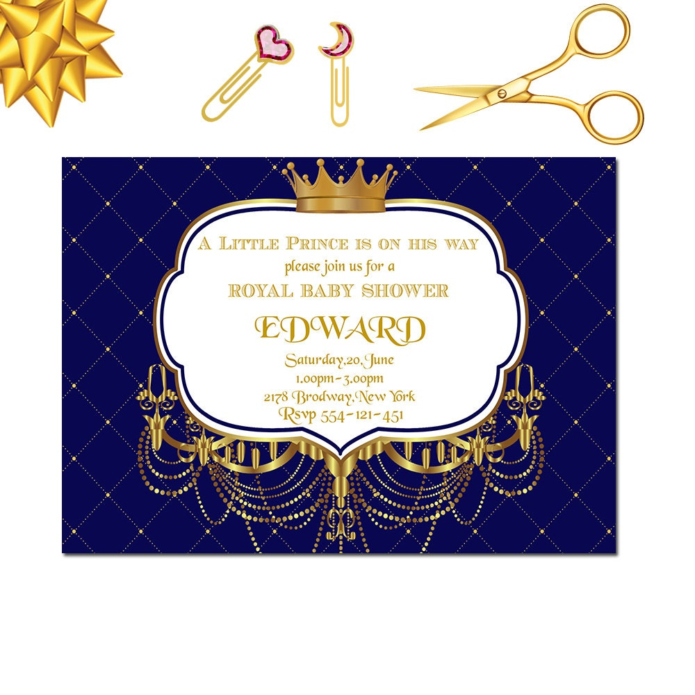 Royal Baby Shower Invitation Little Prince Baby Shower