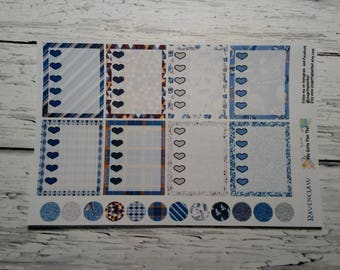 Ravenclaw To Do List Full Boxes Patterned Planner Stickers