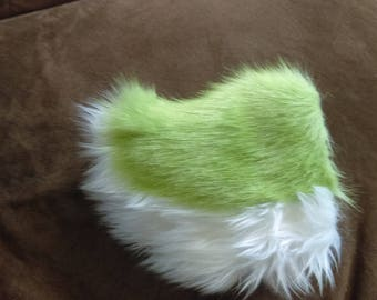 Green and White Rabbit Tail