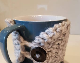 READY TO SHIP Crochet mug cozy and coaster set, mug warmer, crochet sleeve, reusable cup sleeve, coffee cozy, drink cozy, mug cozy, coaster