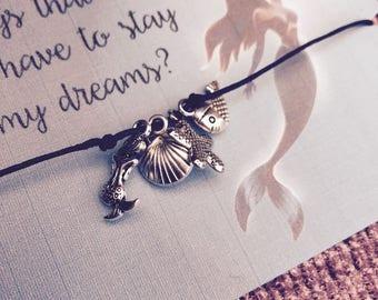 Little Mermaid Bracelet Disney charm bracelet inspired mermaid charm