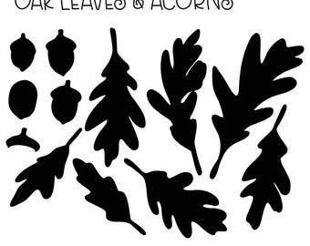 Cutting Flats: Oak Leaves & Acorns in SVG and DXF Format