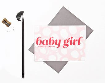 Baby Girl | New Baby | Congratulations | Hand-Painted | Greeting Cards