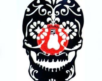 Sugar Skull - Vinyl Record Wall Art