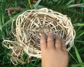 Ring Pillow Bearer Love Nest Natural Vine Wicker Basket Wisteria