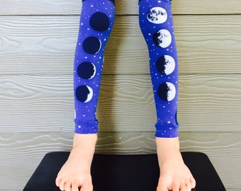 Moon Leg and Arm Warmers for Boys and Girls - Lunar Leggings for Kid, Infant, Baby, Toddler, and Tween - Great Baby Shower or Birthday Gift
