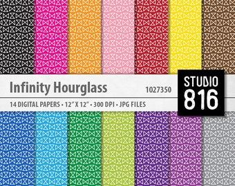 Infinity Hourglass Pattern - Digital Paper for Scrapbooking, Cardmaking, Papercrafts #1027350