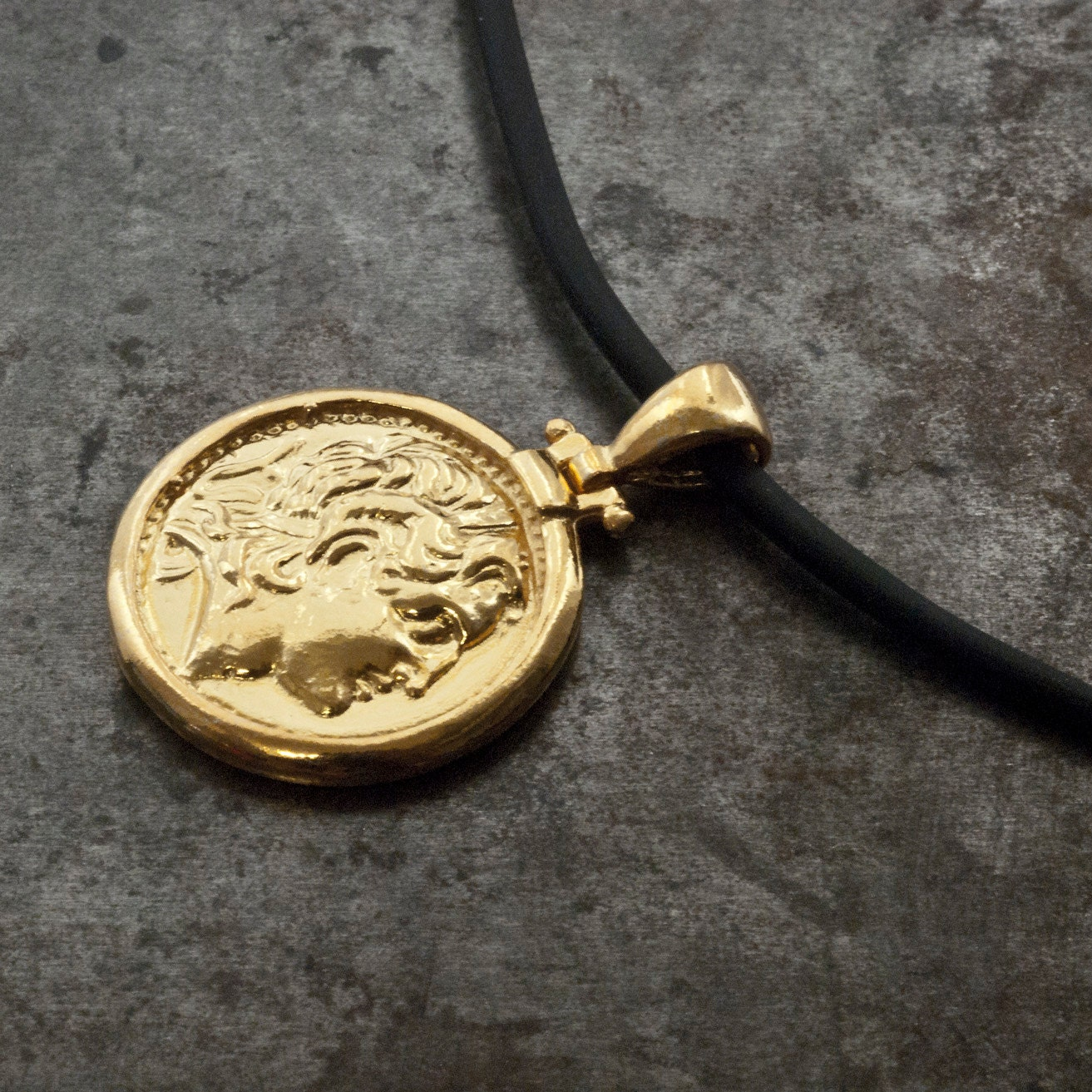 Gold greek coin necklace alexander the great ancient coin pendant gold greek coin necklace alexander the great ancient coin pendant men jewelry mozeypictures Images