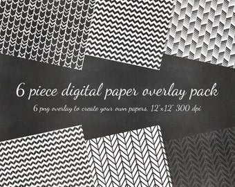 80% OFF SALE Digital Scrapbook 6 Piece Chevron Pattern Diy Paper PNG Overlay Pack - 6 Pattern Overlays to Diy - Digital Scrapbook Paper Pack