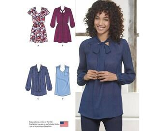 Uncut Simplicity 8216 Misses' Mini Dress or Tunic D0525 H5 6-8-10-12-14