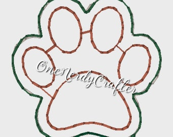 PawPrint Flasher Feltie Embroidery Digital Design File