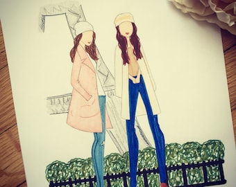 Amis dans Paris - Fashion Sketch