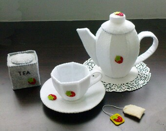 Felt Tea Set Patterns and Tutorials PDF Sewing Patterns (Instant Download)